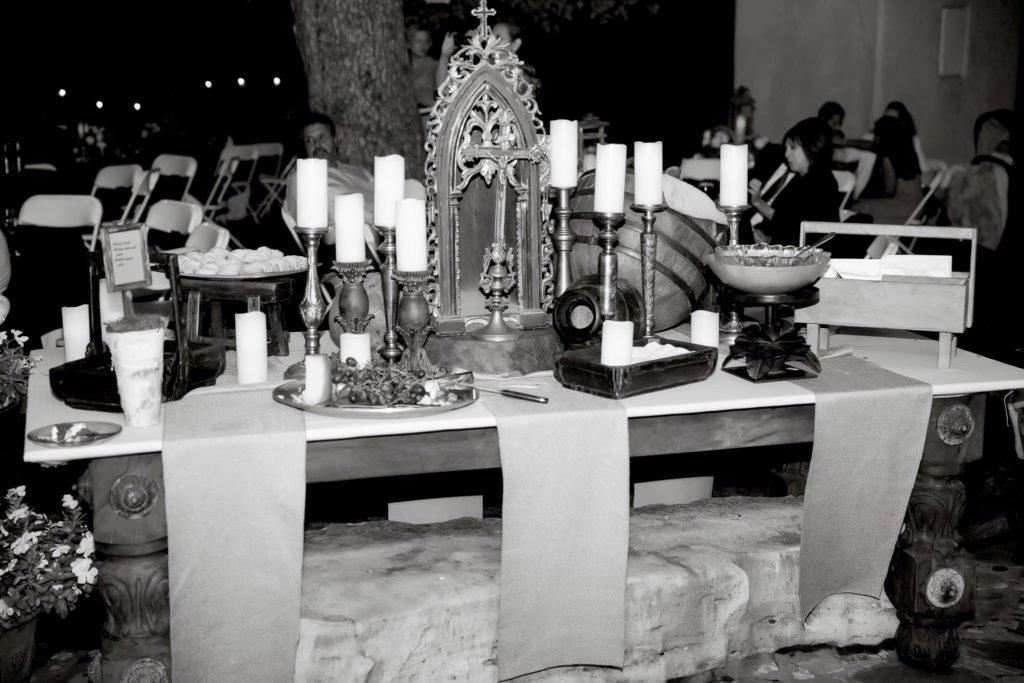 food table at wedding reception - J Dub By Design