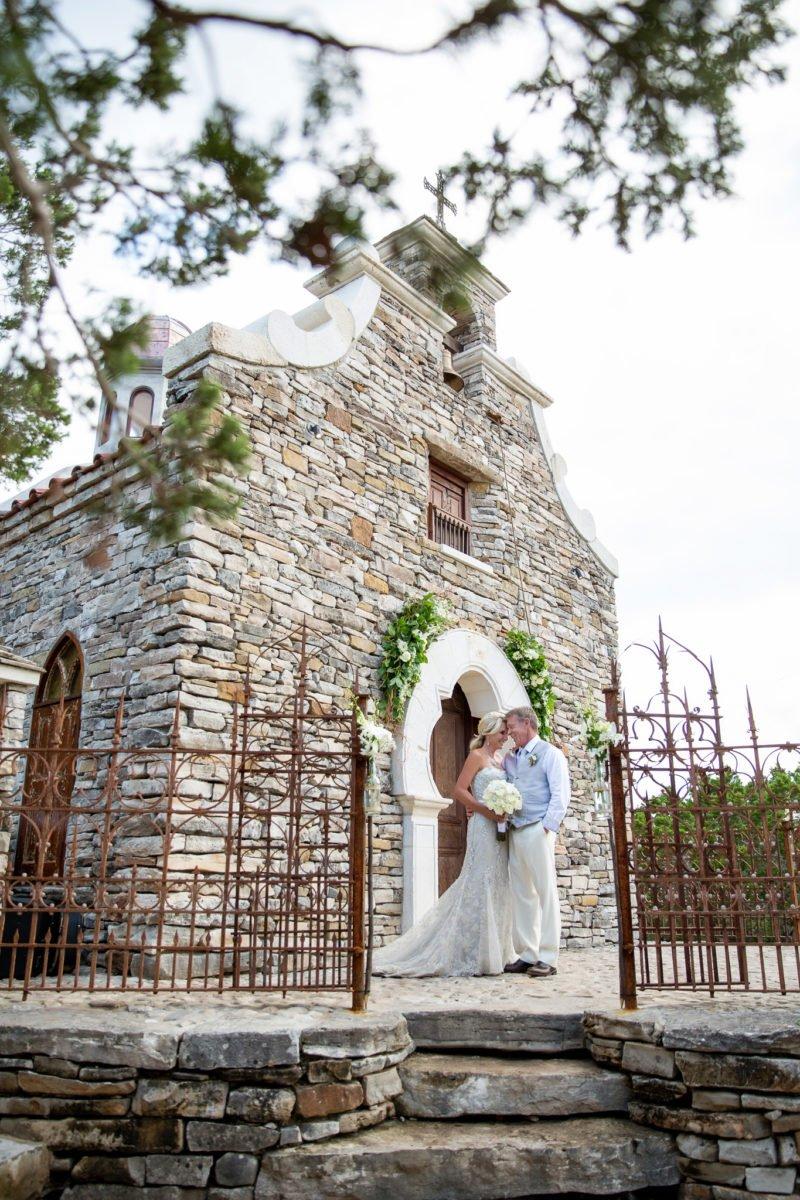 Jennifer and David Williams standing outside chapel - J Dub By Design