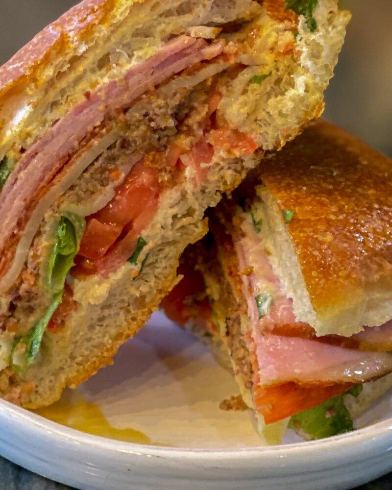 Gillespie Sandwich on white plate - J Dub By Design