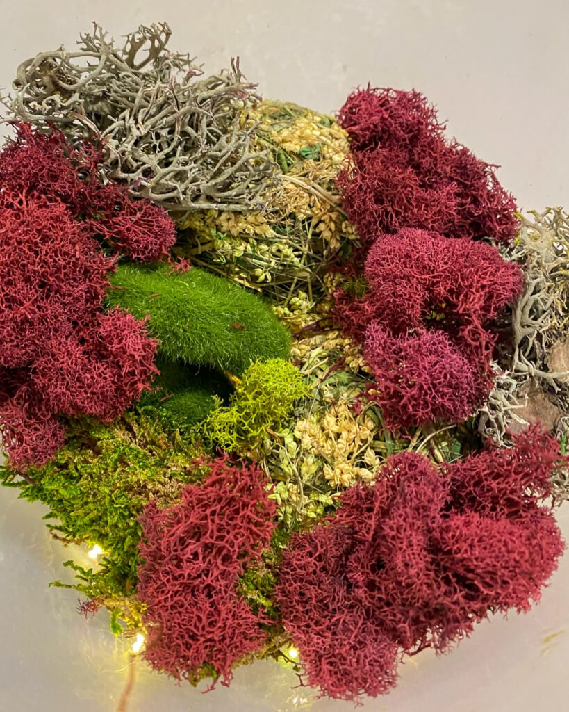 reindeer moss and dried florals - J Dub By Design