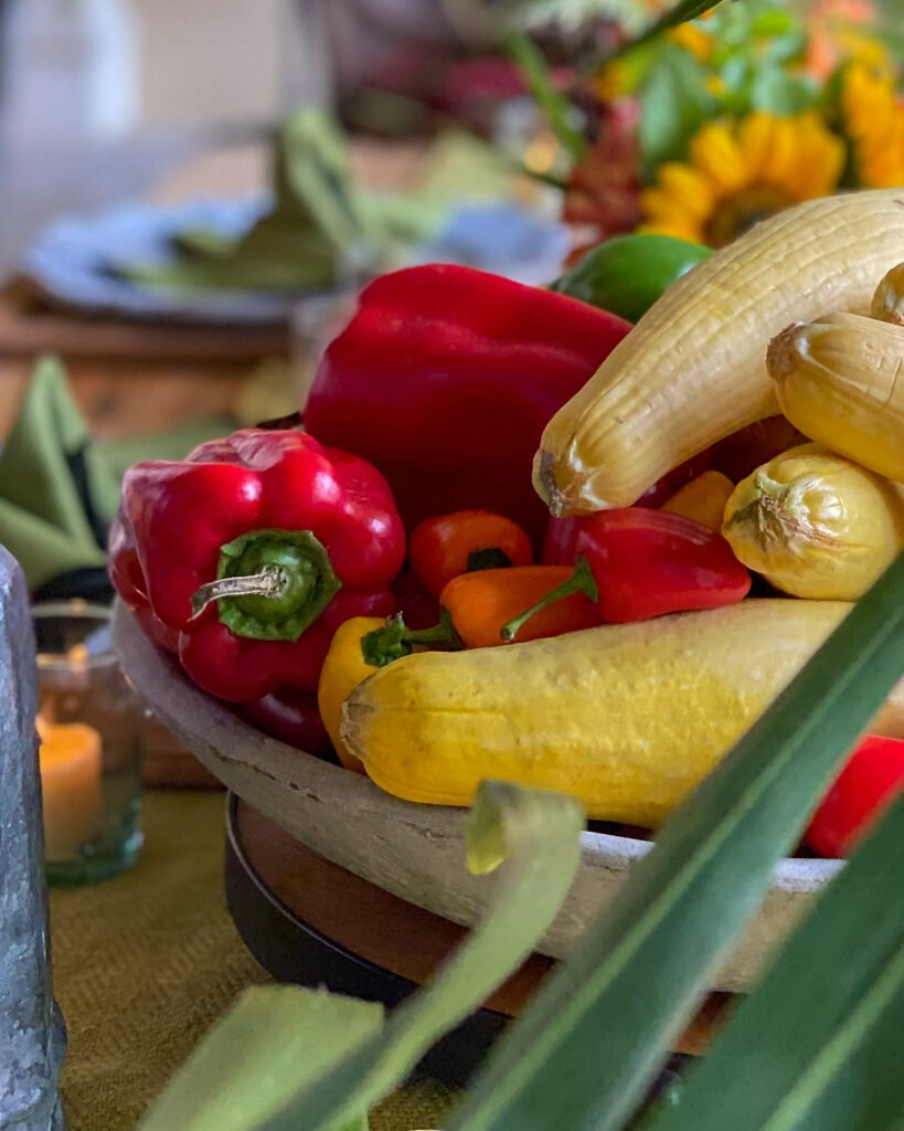 red peppers and squash on table - J Dub By Design