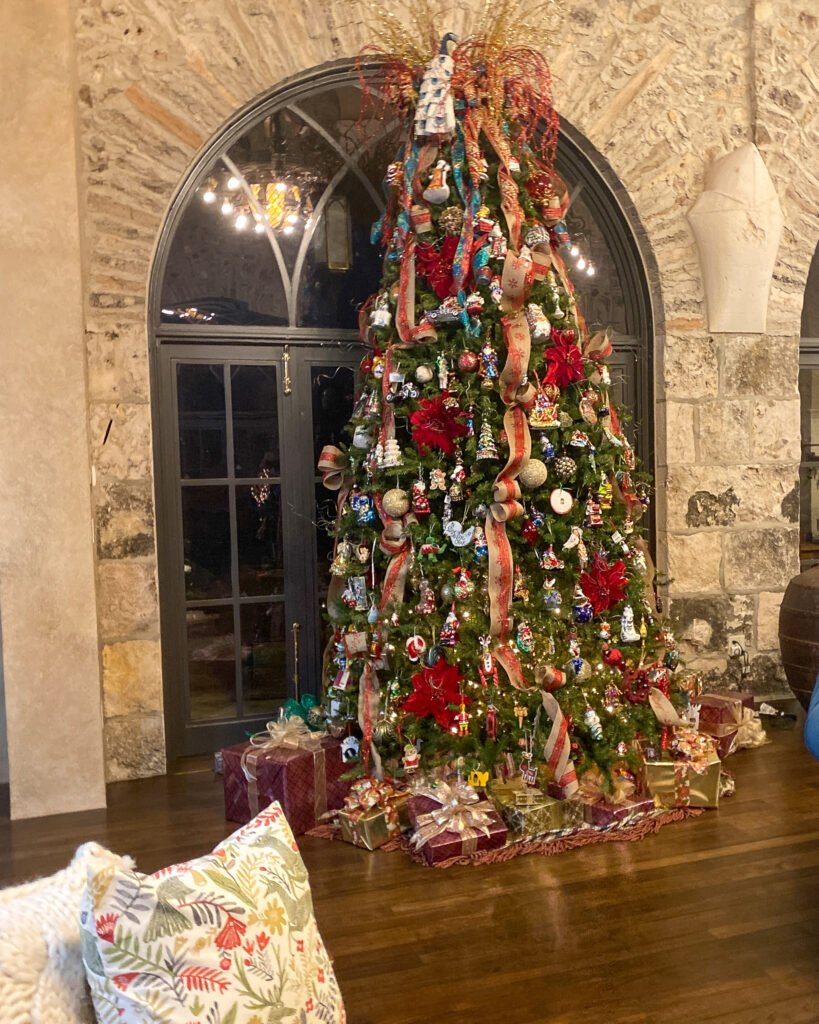 unlit Christmas tree in dining room - J Dub By Design