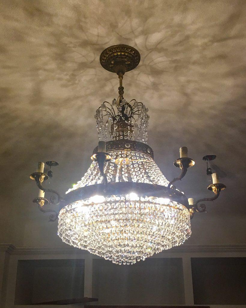 vintage wedding cake chandelier - J Dub By Design