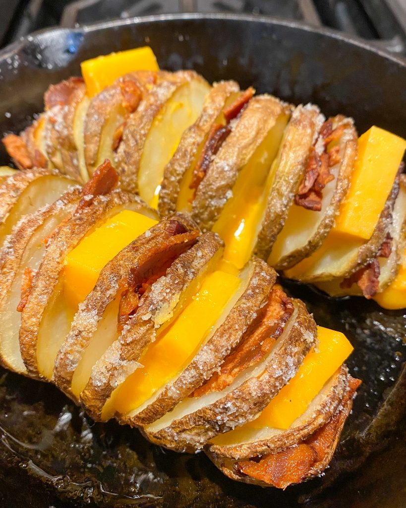 cheese in hasselback potatoes - J Dub By Design