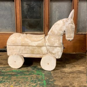 Unique wooden horse