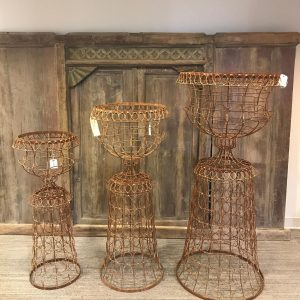 vintage wire planter baskets - J Dub By Design