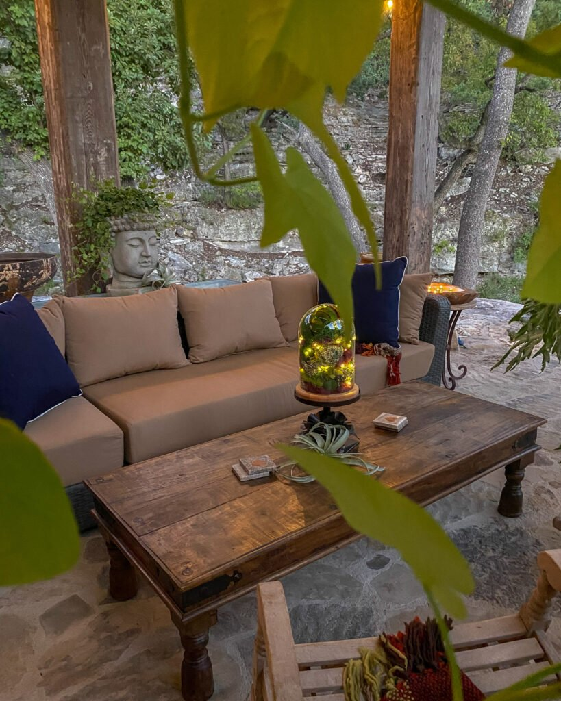 waxed coffee table outside - J Dub By Design