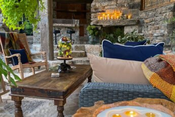 waxed table in outdoor patio area - J Dub By Design