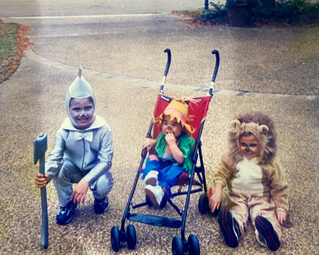 Kids in Halloween costumes - J Dub By Design