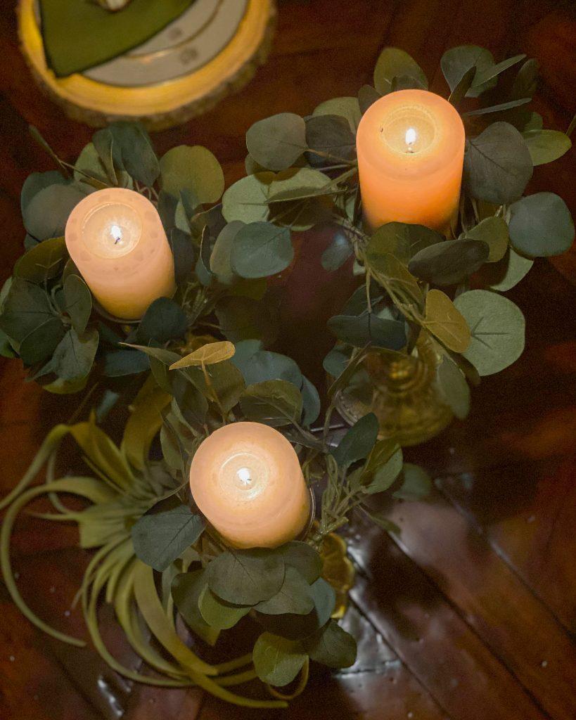 DIY Fall Eucalyptus Candle Rings - J Dub By Design
