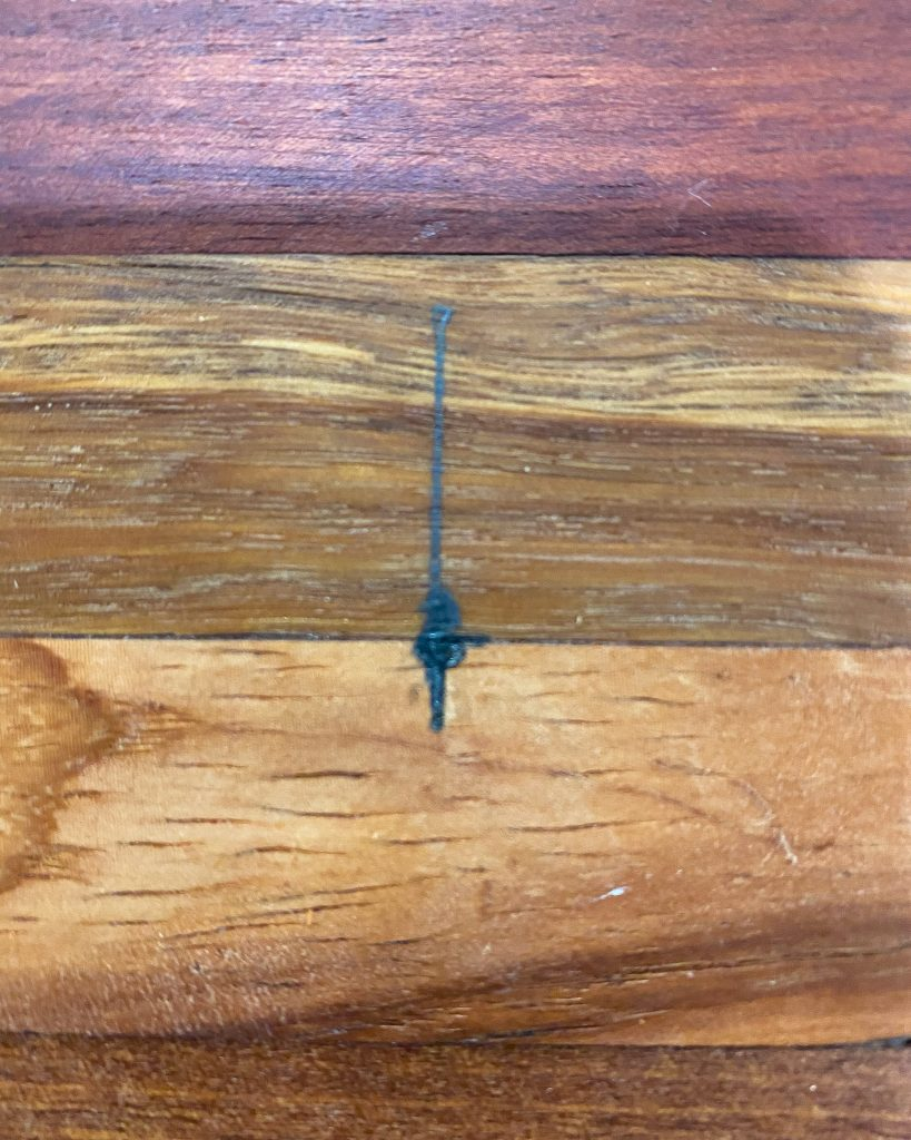 marks on cutting board to make holes - J Dub By Design