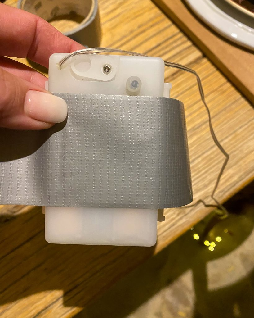 Duct tape on battery pack - J Dub By Design