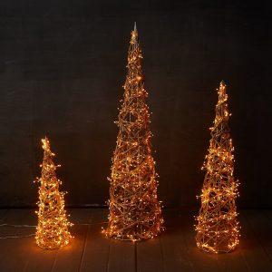 Prelit Grapevine Cone Trees - J Dub By Design