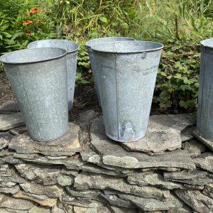 vintage metal buckets - J Dub By Design