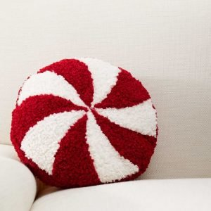 round peppermint pillow - J Dub By Design