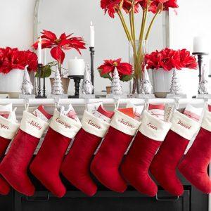 velvet monogrammed stockings - J Dub By Design