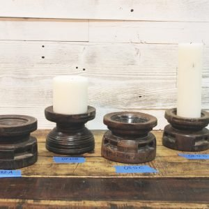 wooden candle holders - J Dub By Design