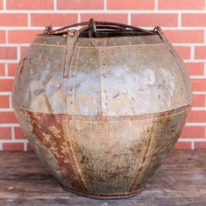vintage metal bucket - J Dub By Design