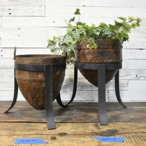 vintage iron planters - J Dub By Design