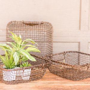 vintage wire baskets - J Dub By Design