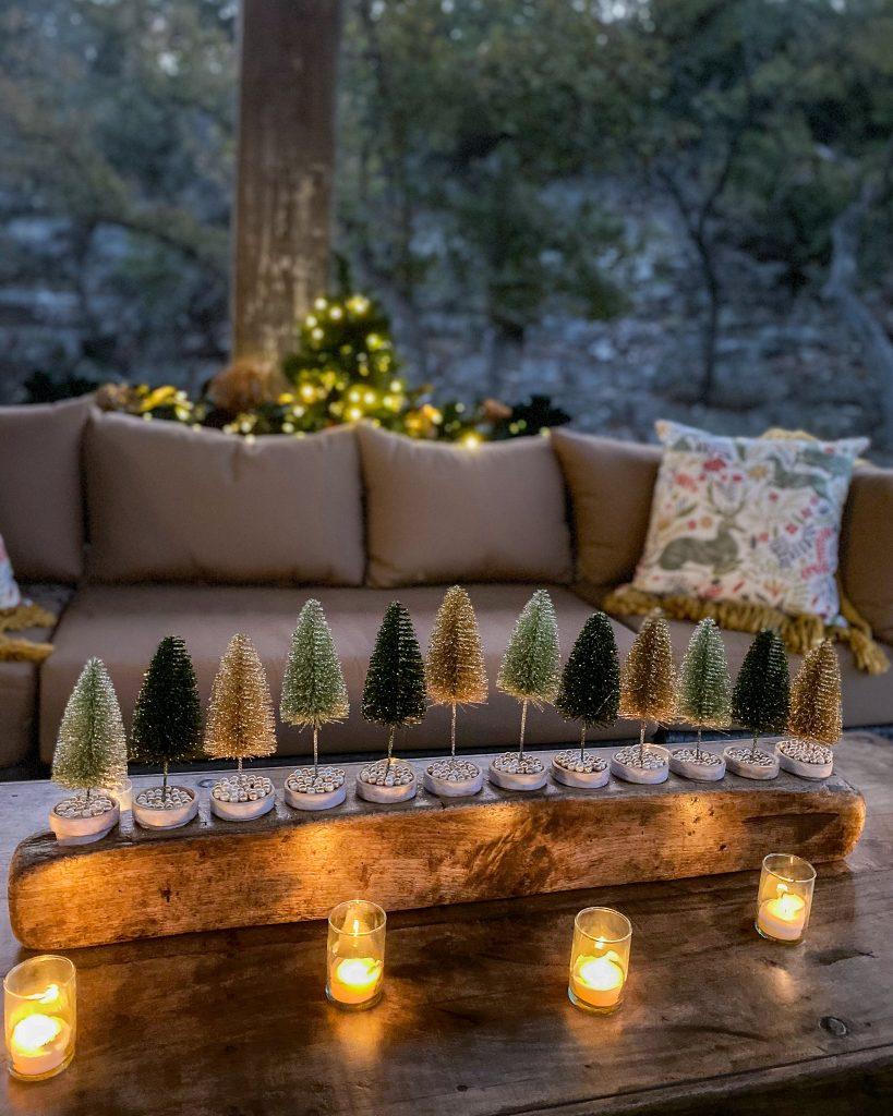 brush tree sugar mold DIY outside - J Dub By Design