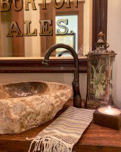 Tillandsia in lantern in bathroom - J Dub By Design™