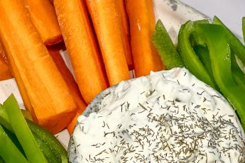 J Dub's dill pickle dip with carrots and bell pepper - j Dub By Design™