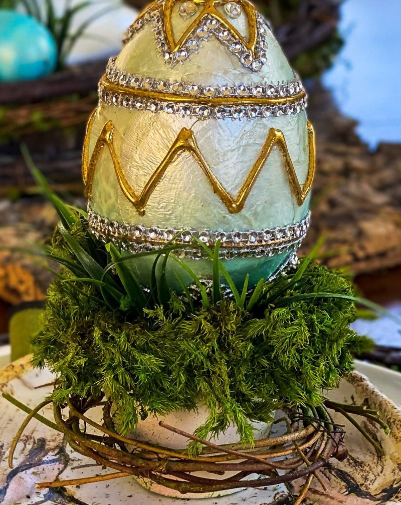 Easter table decor DIY idea - J Dub By Design
