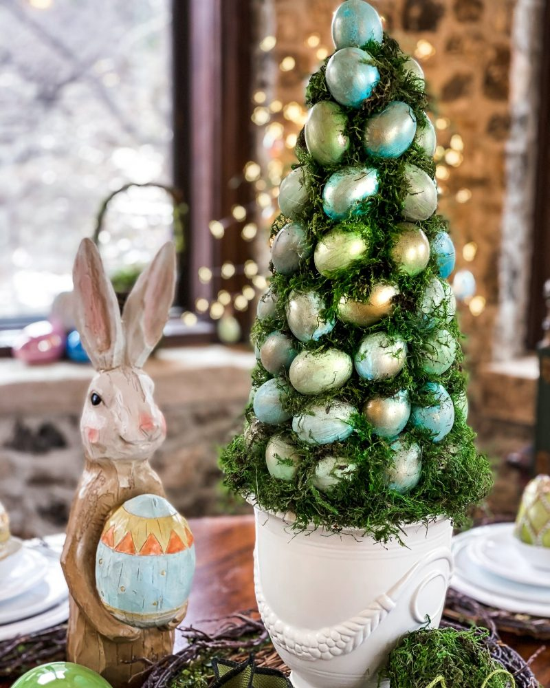 DIY Egg and Moss Topiary - J Dub By Design™