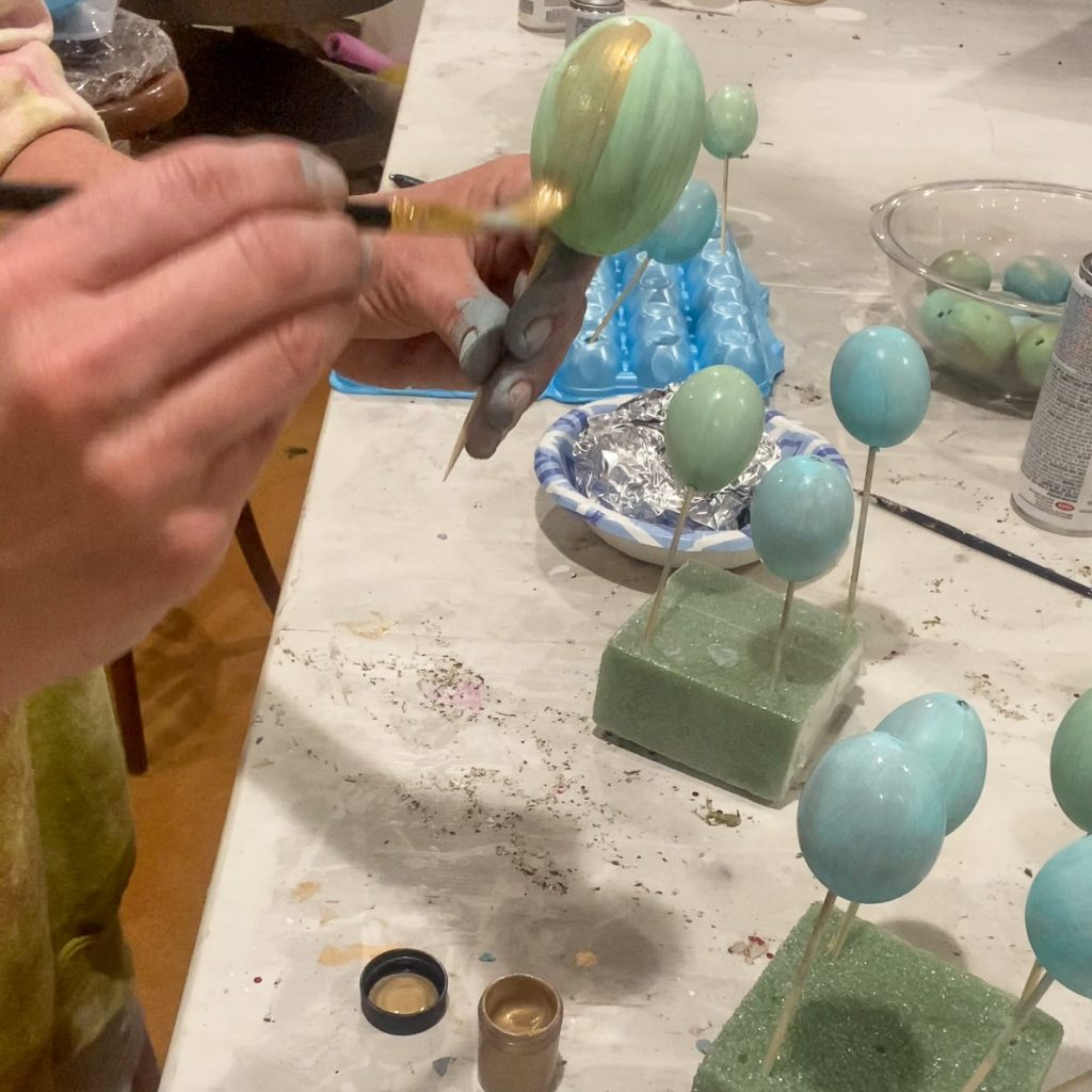 adding shimmer to eggs - J Dub By Design™