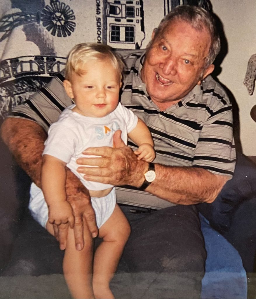 Mr. Ken, David's dad, holding Kade, David's son - J Dub By Design™