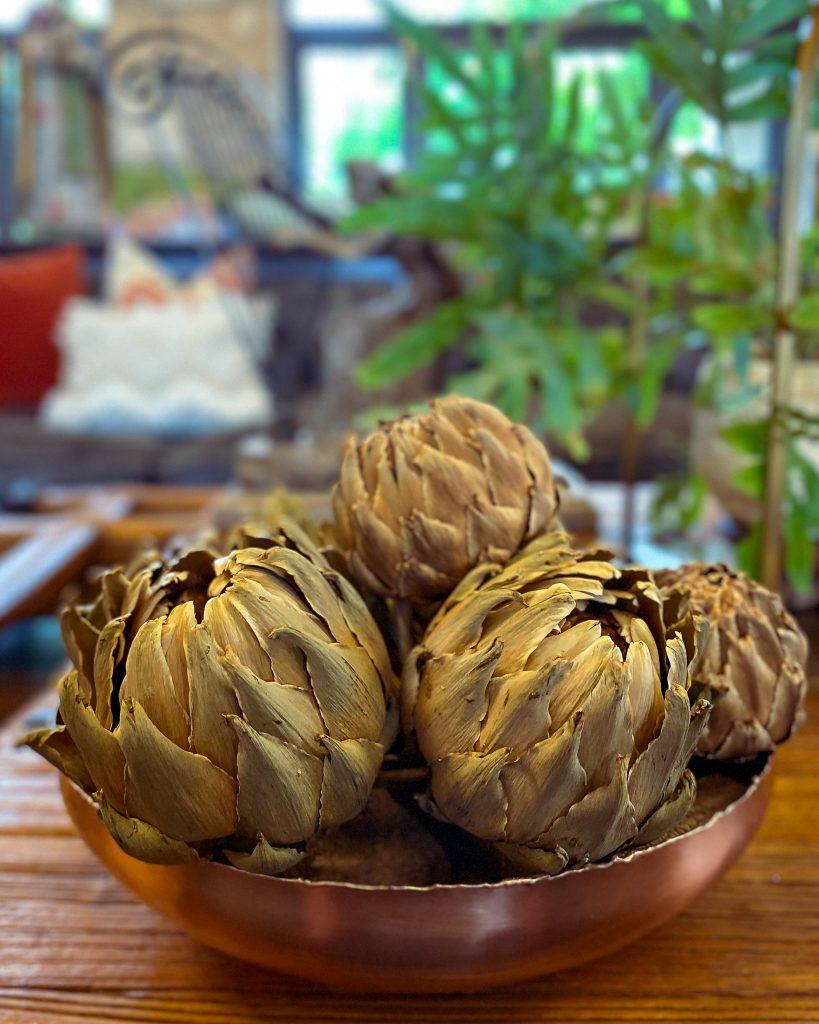 dried artichokes in a copper bowl - J Dub By Design™