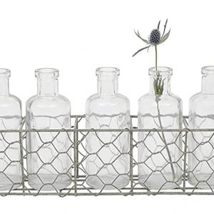 glass jars in wire basket - J Dub By Design™