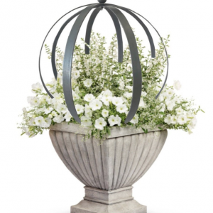 large round obelisk sphere trellis in urn - J Dub By Design™œ