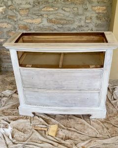 the nightstand after two coats of Minwax Color wash - J Dub By Design™