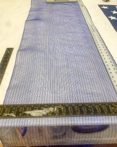 measuring and cutting navy deco mesh - J Dub By Design™
