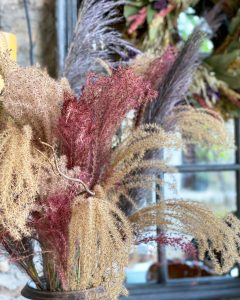 Close up of dyed ornamental miscanthus grasses - J Dub By Design™