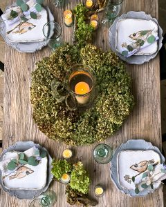 Overhead view of fall tablescape - J Dub By Design™