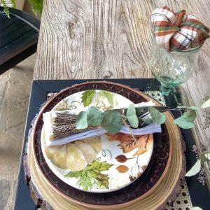 fall place setting for outdoor table-scape - J Dub By Design™