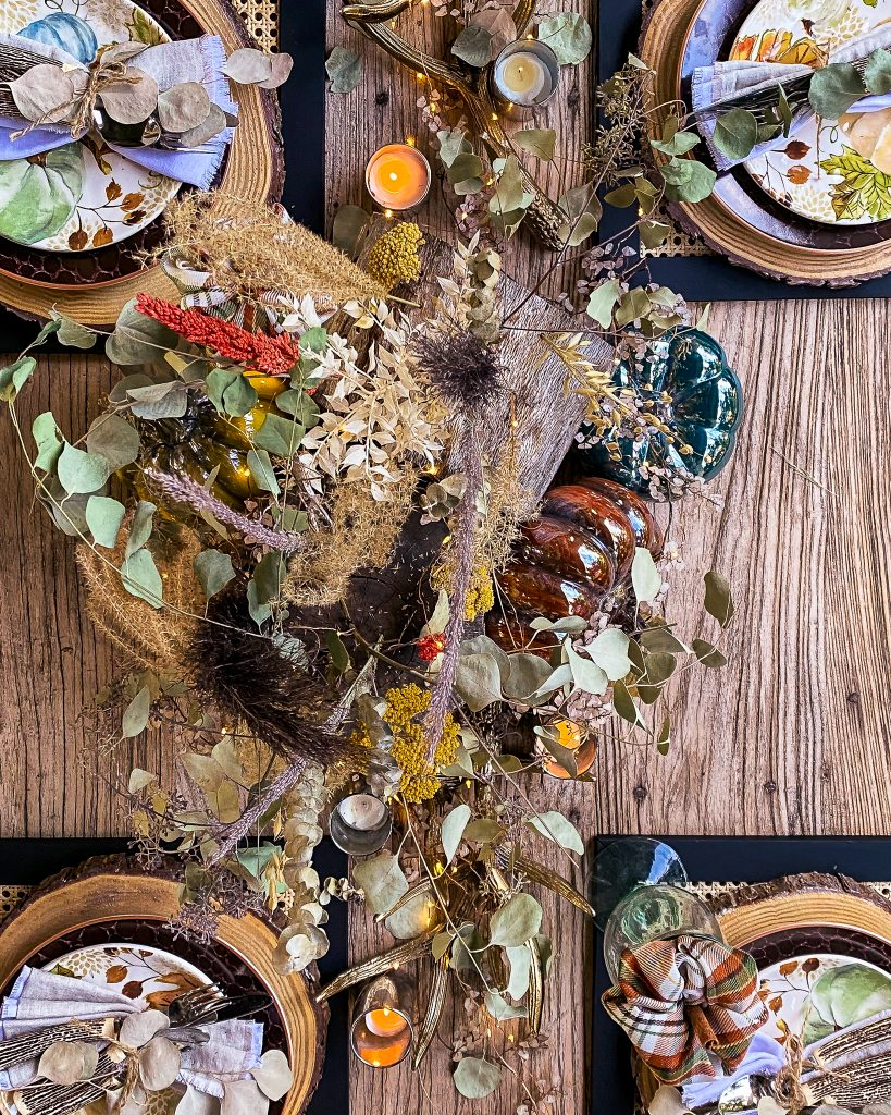 overhead view of the fall tablescape - J Dub By Design™